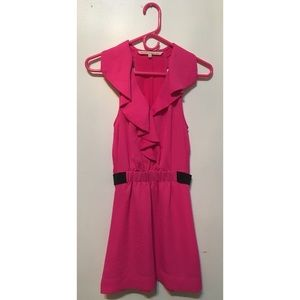 RACHEL Rachel Roy pink & black sweet party dress